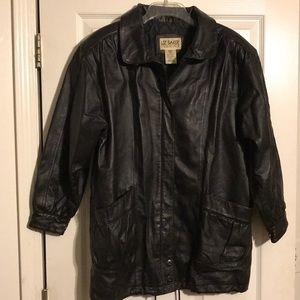Liz Baker Essentials Leather Coat